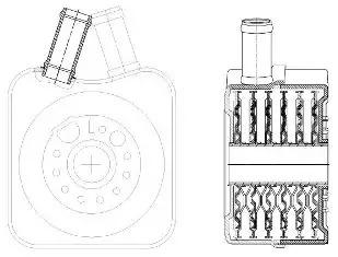 масляный радиатор, двигательное масло LUZAR LOC1802