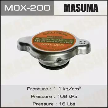 Крышка, резервуар охлаждающей жидкости MASUMA MOX200