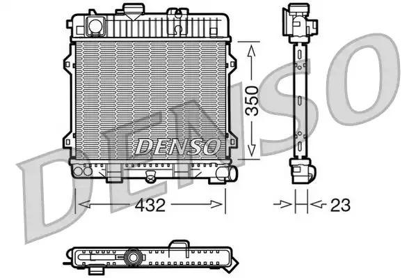 Радиатор, охлаждение двигателя DENSO DRM05024